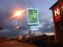LED advertising tower