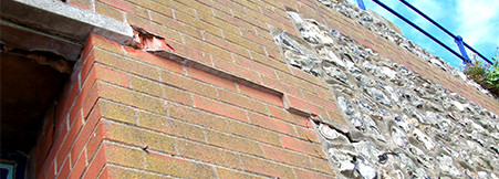 Thermal movement – damage to brickwork.
